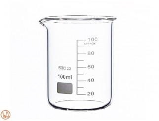 Becher Glas 100ml Borosilikatglas hohe Form