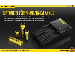Nitecore Intellicharger NEW I2 V2 Li-Ion / NiMH Battery 2-Slot Charger